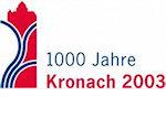 Mit der Werbemarke des Stadtjubiläums wurde das überregionale Marketing der Landesgartenschau fortgesetzt. Beide sich ähnelnden Werbelogos haben den Namen Kronachs bekannter gemacht.