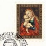Das berühmte Mariahilf-Bild von Lucas Cranach auf einer österreichischen Briefmarke.