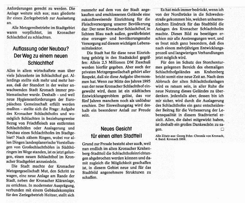 Auszug aus der Zeitschrift 1000JKC