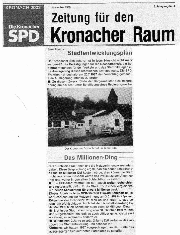SPD-Zeitungsseite
