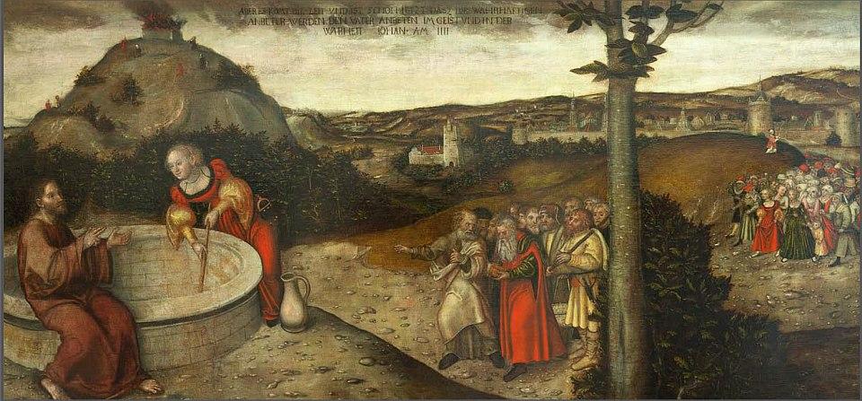 Christus und die Samariterin am Jakobsbrunnen